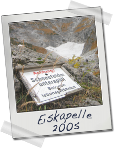 Polaroid Eiskapelle